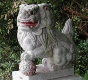 伊豆最南端のこま犬