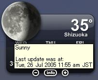 35℃ (The Weather Widget)