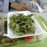 お茶の葉の天ぷら