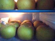 冷蔵庫を占めるナシ軍団