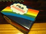 FILAの靴箱 虹模様がかわいらしい