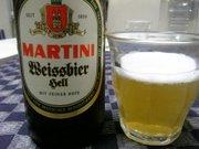 黄色で濁った感じのMARTINI Weissbier hell