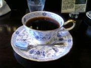 残暑の中,ホットコーヒー