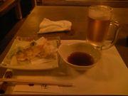ビールと天ぷら