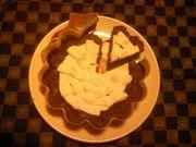 ハート形に切れたチョコレート