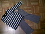 花子服 ボーダーシャツとパンツ