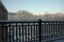 部屋から見た雪景色