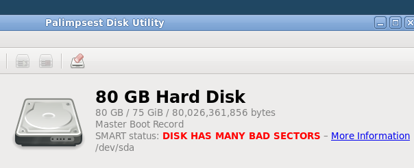 ディスク故障 DISK HAS MANY BAD SECTORS